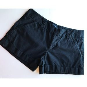French Connection • Black Cuffed Shorts